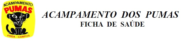 FICHA DE SAUDE ACAMPAMENTO DOS PUMAS